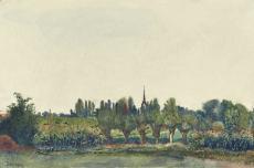 Landschaft bei Wachau, Werner Tübke