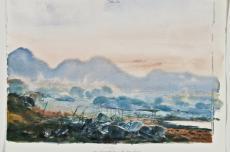 Vor Sonnenaufgang auf Kap Sounion, Werner Tübke