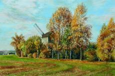 """Mühle bei Gersdorf"", Pastell, 2017, Christberd Steude"